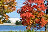 Washington DC, Lincoln Memorial im Herbst