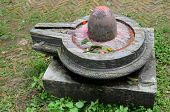 stock photo of lingam  - Stone lingam in Hindu temples represents the sexual male creative energy of Shiva - JPG