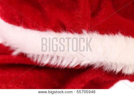 Nähe des Fragments Kleidung Santa Claus.