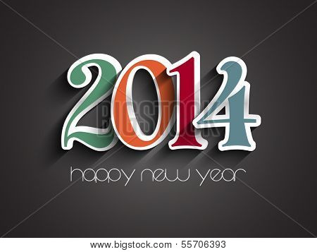 Happy New Year background with a decorative text design