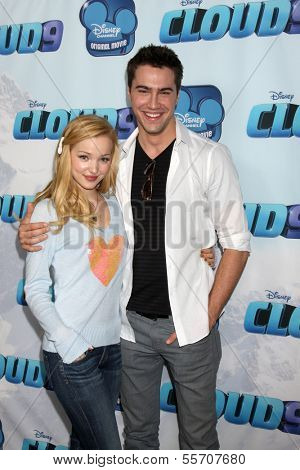 LOS ANGELES - DEC 18:  Dove Cameron, Ryan McCarten at the Premiere Of Disney Channel's