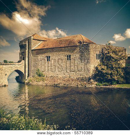 Historical Castle In Leeds Kent Vintage
