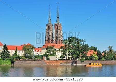 Wroclaw. View Of The Island Tumski