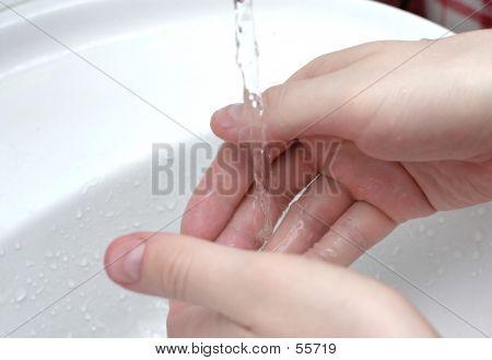 Händewaschen ich