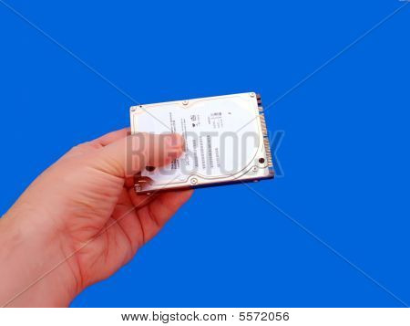 Hand Holding Laptop Hard Drive Hd