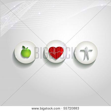 Health care concept symbols