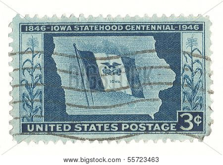 United States Stamp of Iowa Statehood Centennial