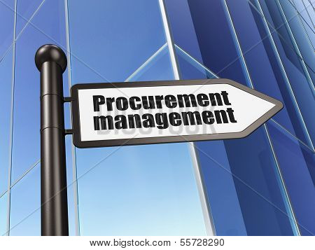 Business concept: sign Procurement Management on Building background
