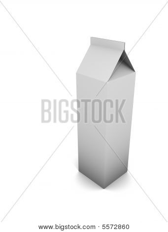 Package Milk Blank Template Empty White Ad Sign None Null Drink