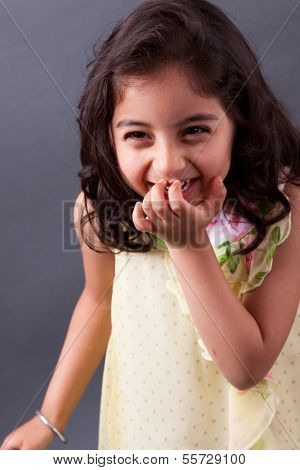 East Indian Girl Laughing