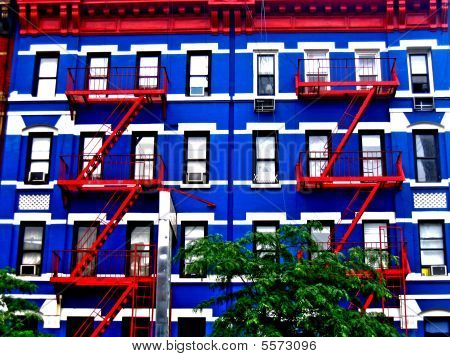 Colorful Building In Manhattan