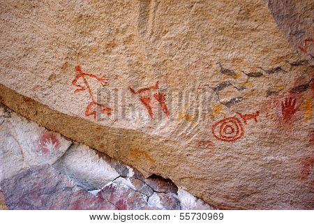 Rock paintings in Patagonia