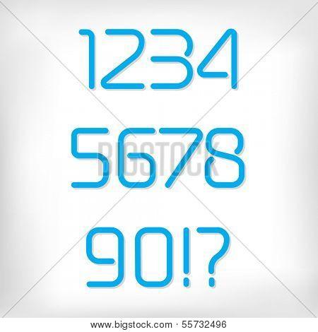 Modern minimal rounded font alphabet (numbers/figures);  Sans-serif display elegant light font, vector alphabet letters design. Bold, heavy version
