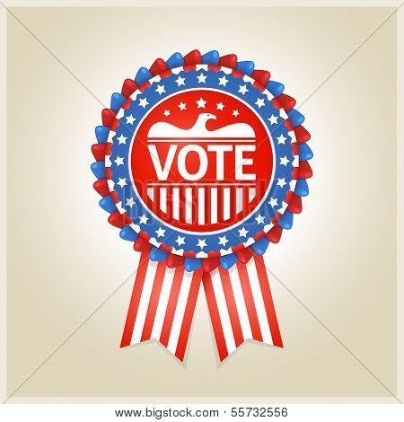 American patriotic election label