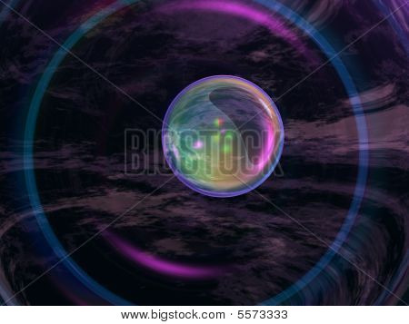 Abstract Crystal Black Background