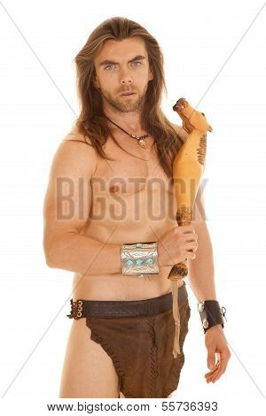 Man Savage With Weapon Serious