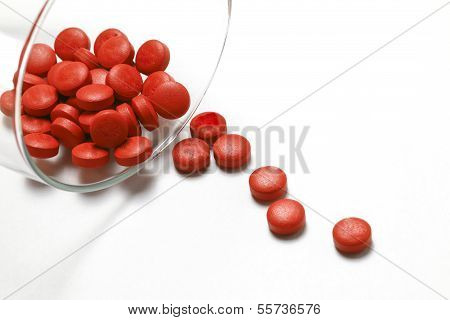 Glass Of Tablets