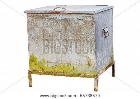 Vintage Ice Chest Isolated