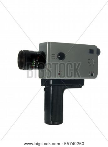 8 Mm Camera Isolated