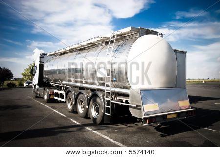 Heavy Truck Backside View