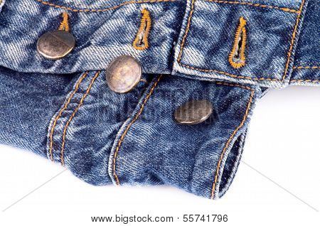 Buttons On Blue Jeans