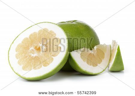 Ripe Green Sweetie Fruit With Slices