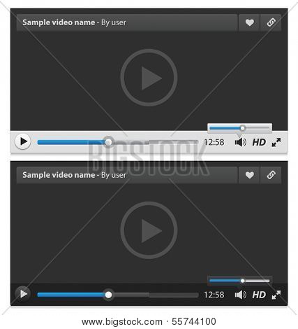 Web video player. Vector illustration