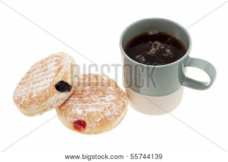 Jam Donuts And Coffee