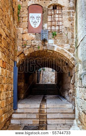 Streets of Akko (Acre), Israel