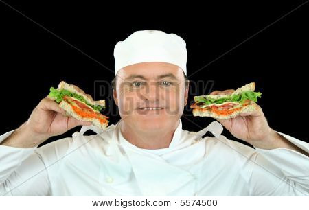Sandwich Holding Chef