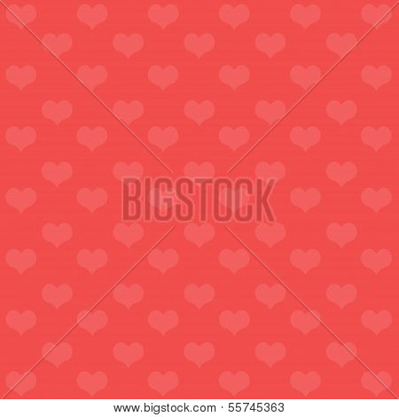 Valentine's Day Background With Hearts. Vector