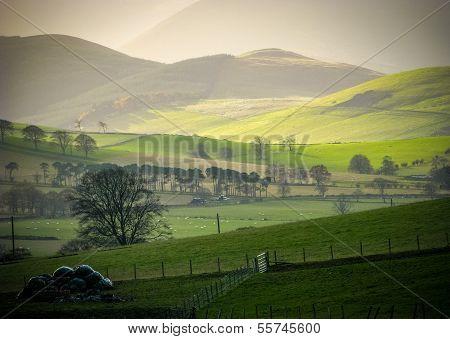 ländliche rollenden Hügel