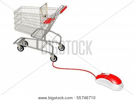 Computer mouse connect to shopping