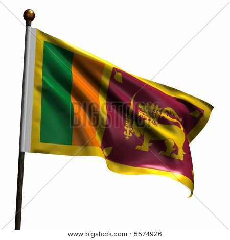 High Resolution Flag Of Sri Lanka