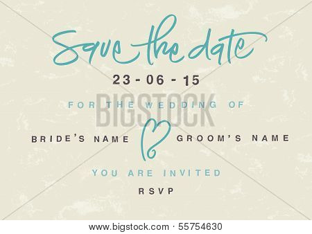Hand-written Save the Date.