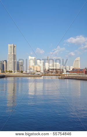 View of the Marina in Yokohama Bayside