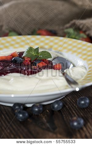 Plate With Semolina Pudding