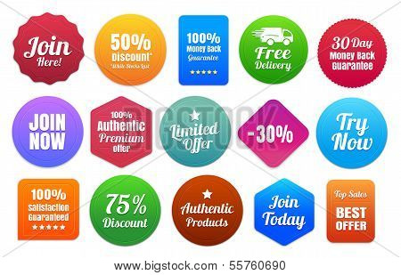 Colorful Ecommerce Badges