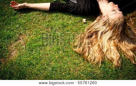 Sleeping on the grass