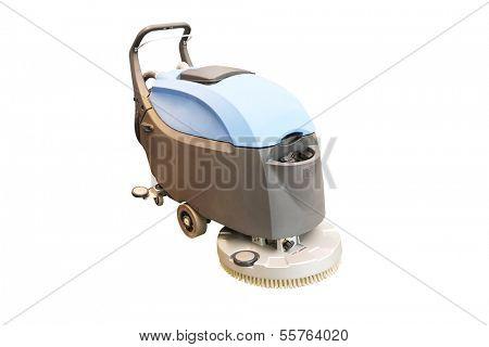 floor washing machine under the white background