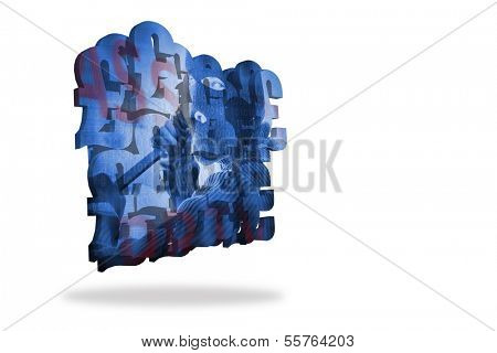 Burglar on abstract screen
