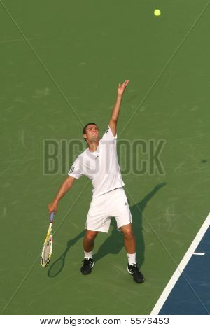 Male Professional Tennis Player Serve