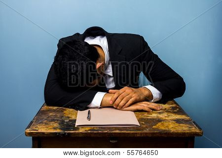 Businessman Sleeping After Closing Important Deal
