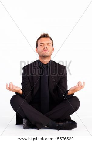 Handsome Man Meditating