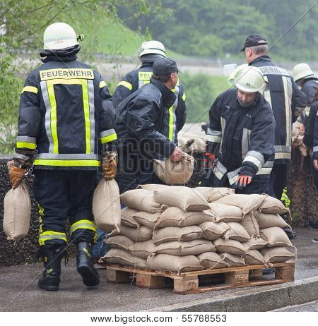 Floodwater Helper In Germany