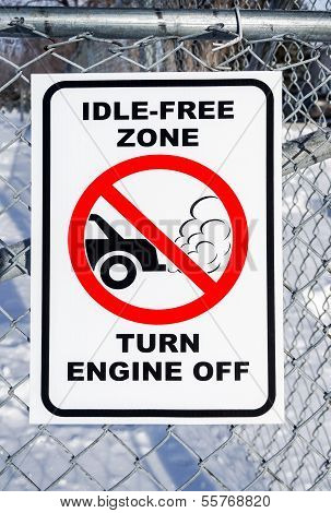 Idle-free Zone, Turn Engine Off Sign