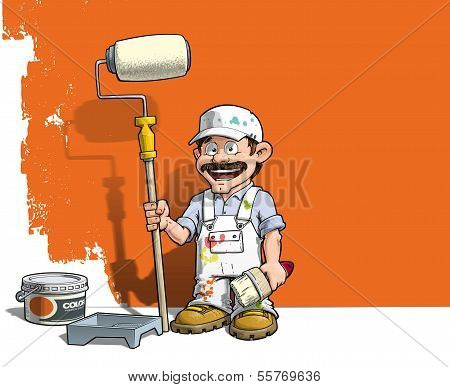 Handyman - Wall Painter White Uniform