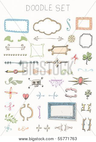 Doodle set - vintage elements