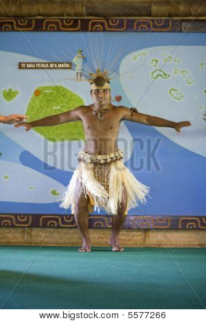 Male Tahitian Dancer At Polynesian Cultural Center
