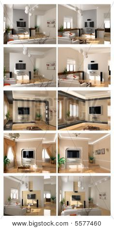 Interior Project Scetch Set